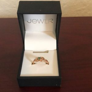Rose gold natural emerald ring